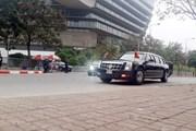 [Photo] Đoàn xe đưa Tổng thống Mỹ Donald Trump ra sân bay Nội Bài