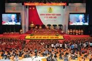 Phiên trọng thể Đại hội Công đoàn Việt Nam lần thứ XII
