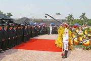 Hình ảnh lễ an táng nguyên Tổng Bí thư Đỗ Mười tại quê nhà