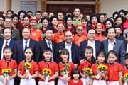 Hình ảnh Thủ tướng dự Ngày hội đại đoàn kết toàn dân tộc tại Bắc Giang