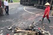 Vụ container lật tại Ba Vì: Xác định danh tính 2 nạn nhân tử vong