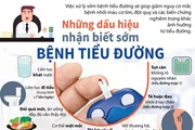 [Infographics] Những dấu hiệu nhận biết sớm bệnh tiểu đường