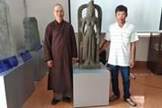 Trưng bày tượng nữ thần Saraswati lần đầu được tìm thấy ở Việt Nam