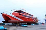 Hạ thủy an toàn tàu cao tốc hai thân được đóng tại Việt Nam