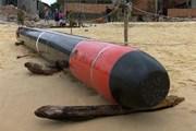 Ngư dân phát hiện quả ngư lôi còn mới tại vùng biển Phú Yên