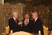 Quốc vương Campuchia tổ chức Quốc yến mừng Tổng Bí thư, Chủ tịch nước