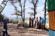 Độc đáo con đường thuyền thúng của làng chài bích họa Tam Thanh