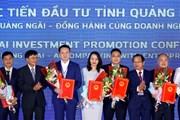 Hình ảnh Thủ tướng dự Hội nghị xúc tiến đầu tư tỉnh Quảng Ngãi