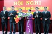 Công bố các quyết định của về công tác cán bộ tỉnh Lai Châu