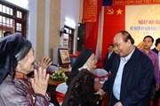 Thủ tướng dự Ngày hội Đại đoàn kết toàn dân tộc tại tỉnh Bắc Giang