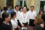 Bộ trưởng Phùng Xuân Nhạ kiểm tra công tác chuẩn bị thi THPT quốc gia