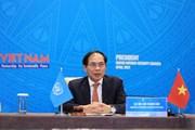 Việt Nam chủ trì họp cấp bộ trưởng HĐBA về khắc phục hậu quả bom, mìn