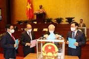 Quốc hội phê chuẩn việc bổ nhiệm Phó thủ tướng và các bộ trưởng