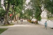 Ngắm nhìn diện mạo mới của hồ Gươm trong tiết trời mùa Thu Hà Nội