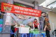 Cận cảnh điểm bán hàng lưu động thời COVID-19 tại Thủ đô Hà Nội