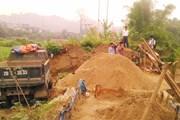 Bắc Kạn xuất hiện tình trạng phá ruộng, khai thác cát