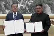 """Lãnh đạo Triều Tiên, Hàn Quốc ra """"Tuyên bố chung Bình Nhưỡng tháng 9"""""""