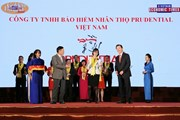 Prudential nhận danh hiệu Công ty bảo hiểm nhân thọ hàng đầu Việt Nam