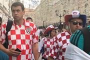 Sắc màu caro Croatia ngập tràn Moskva trước trận chung kết
