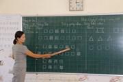 [Photo] Giờ học tiếng Việt lớp 1 theo chương trình công nghệ ở Nghệ An