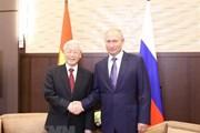 Tổng thống Nga chúc mừng Tổng Bí thư được bầu làm Chủ tịch nước