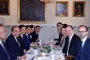 Hình ảnh Thủ tướng Nguyễn Xuân Phúc hội đàm với Thủ tướng Thụy Điển