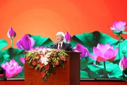 Tổng Bí thư trình bày diễn văn nhân 50 năm thực hiện Di chúc Bác Hồ