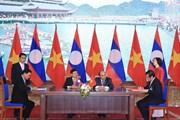 Hai Thủ tướng Việt Nam-Lào đồng chủ trì kỳ họp Ủy ban liên Chính phủ