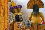 Những hình ảnh rực rỡ của các tác phẩm tại lễ hội chanh ở Pháp