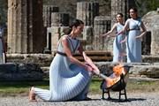 Cận cảnh Lễ thắp đuốc tại Hy Lạp chuẩn bị cho Olympic Tokyo 2020