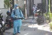 Hình ảnh Đà Nẵng khử khuẩn tại khu dân cư của bệnh nhân 418