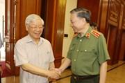 [Photo] Bộ Chính trị làm việc với Thường vụ Đảng ủy Công an Trung ương