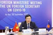 [Photo] ASEAN-Anh tăng cường hợp tác để ứng phó với COVID-19