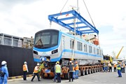 [Photo] Đoàn tàu đầu tiên của tuyến metro Bến Thành-Suối Tiên