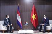[Photo] Thủ tướng Phạm Minh Chính hội kiến Thủ tướng Campuchia Hun Sen