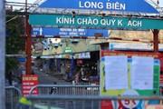 Hình ảnh Hà Nội phong tỏa, cách ly y tế chợ đầu mối Long Biên