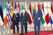 Chủ tịch Quốc hội Vương Đình Huệ hội kiến Chủ tịch Hội đồng châu Âu