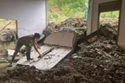 [Photo] Nguy cơ mất an toàn từ các điểm sạt lở núi tại Nghệ An