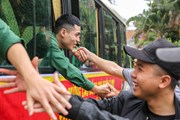 [Photo] Hình ảnh 3.500 thanh niên Hà Nội lên đường nhập ngũ