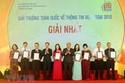Toàn cảnh lễ trao Giải thưởng toàn quốc về thông tin đối ngoại 2018