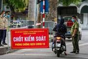 Hà Nội: Các chốt tăng cường kiểm soát việc ra đường không cần thiết