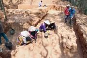 [Photo] Bình Định: Phát hiện nền móng tháp Chăm khoảng 1.000 năm tuổi