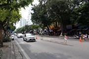[Photo] Hà Nội rào chắn phố Trần Hưng Đạo để thi công nhà ga ngầm