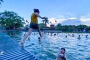 """Hình ảnh đẹp ao tù hóa """"bể bơi"""" xanh, giúp giảm tai nạn trẻ đuối nước"""