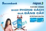 Thanh toán bằng thẻ Sacombank NAPAS có cơ hội sở hữu Iphone XS