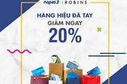Giảm 20% giá trị đơn hành tại ROBINS khi thanh toán thẻ NAPAS