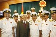 Chủ tịch Quốc hội gặp cựu binh tàu không số