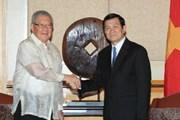 Chủ tịch nước tiếp lãnh đạo Quốc hội Philippines