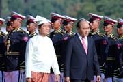 [Photo] Lễ đón Thủ tướng Nguyễn Xuân Phúc thăm chính thức Myanmar