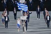 [Photo] Các đoàn thể thao diễu hành tại Lễ khai mạc Olympic Tokyo 2020